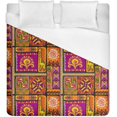Traditional Africa Border Wallpaper Pattern Colored 3 Duvet Cover (king Size)