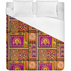 Traditional Africa Border Wallpaper Pattern Colored 3 Duvet Cover (california King Size)