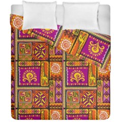Traditional Africa Border Wallpaper Pattern Colored 3 Duvet Cover Double Side (california King Size)