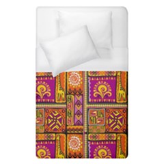 Traditional Africa Border Wallpaper Pattern Colored 3 Duvet Cover (single Size)