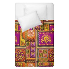 Traditional Africa Border Wallpaper Pattern Colored 3 Duvet Cover Double Side (single Size)