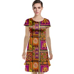 Traditional Africa Border Wallpaper Pattern Colored 3 Cap Sleeve Nightdress