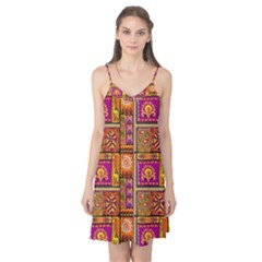 Traditional Africa Border Wallpaper Pattern Colored 3 Camis Nightgown