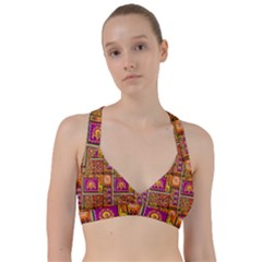 Traditional Africa Border Wallpaper Pattern Colored 3 Sweetheart Sports Bra