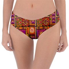 Traditional Africa Border Wallpaper Pattern Colored 3 Reversible Classic Bikini Bottoms