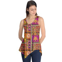 Traditional Africa Border Wallpaper Pattern Colored 3 Sleeveless Tunic