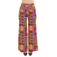 Traditional Africa Border Wallpaper Pattern Colored 3 So Vintage Palazzo Pants