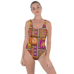 Traditional Africa Border Wallpaper Pattern Colored 3 Bring Sexy Back Swimsuit