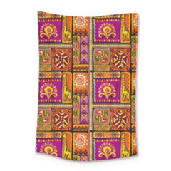 Traditional Africa Border Wallpaper Pattern Colored 3 Small Tapestry