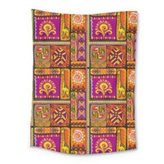 Traditional Africa Border Wallpaper Pattern Colored 3 Medium Tapestry