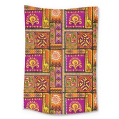 Traditional Africa Border Wallpaper Pattern Colored 3 Large Tapestry