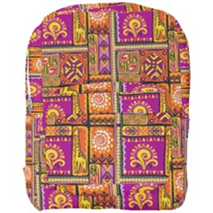 Traditional Africa Border Wallpaper Pattern Colored 3 Full Print Backpack