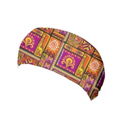Traditional Africa Border Wallpaper Pattern Colored 3 Yoga Headband