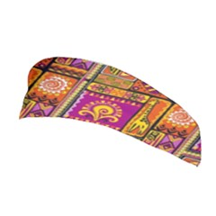 Traditional Africa Border Wallpaper Pattern Colored 3 Stretchable Headband