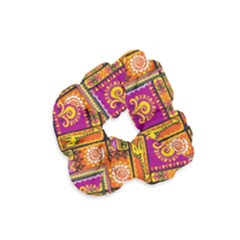 Traditional Africa Border Wallpaper Pattern Colored 3 Velvet Scrunchie