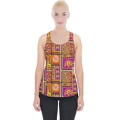 Traditional Africa Border Wallpaper Pattern Colored 3 Piece Up Tank Top