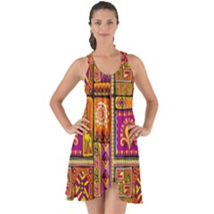 Traditional Africa Border Wallpaper Pattern Colored 3 Show Some Back Chiffon Dress