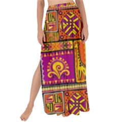 Traditional Africa Border Wallpaper Pattern Colored 3 Maxi Chiffon Tie Up Sarong