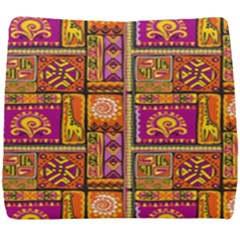Traditional Africa Border Wallpaper Pattern Colored 3 Seat Cushion