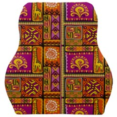Traditional Africa Border Wallpaper Pattern Colored 3 Car Seat Velour Cushion