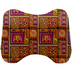 Traditional Africa Border Wallpaper Pattern Colored 3 Head Support Cushion