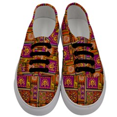Traditional Africa Border Wallpaper Pattern Colored 3 Men s Classic Low Top Sneakers