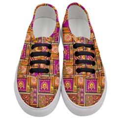 Traditional Africa Border Wallpaper Pattern Colored 3 Women s Classic Low Top Sneakers