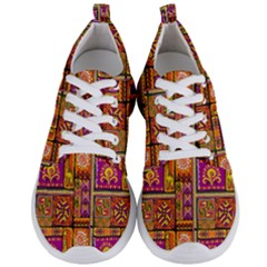 Traditional Africa Border Wallpaper Pattern Colored 3 Men s Lightweight Sports Shoes
