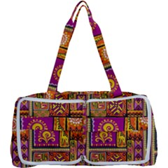 Traditional Africa Border Wallpaper Pattern Colored 3 Multi Function Bag