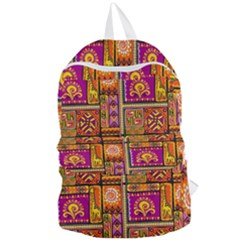 Traditional Africa Border Wallpaper Pattern Colored 3 Foldable Lightweight Backpack