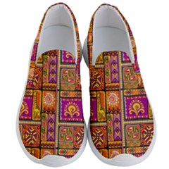 Traditional Africa Border Wallpaper Pattern Colored 3 Men s Lightweight Slip Ons