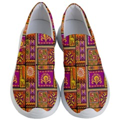 Traditional Africa Border Wallpaper Pattern Colored 3 Women s Lightweight Slip Ons