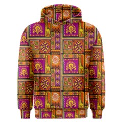 Traditional Africa Border Wallpaper Pattern Colored 3 Men s Overhead Hoodie