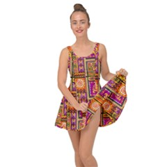 Traditional Africa Border Wallpaper Pattern Colored 3 Inside Out Casual Dress