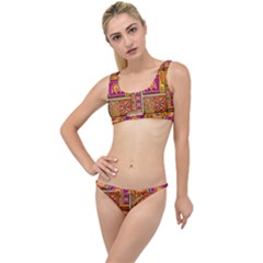 Traditional Africa Border Wallpaper Pattern Colored 3 The Little Details Bikini Set