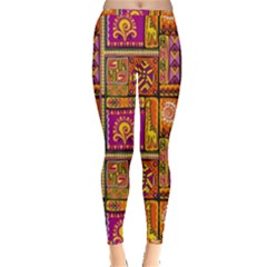 Traditional Africa Border Wallpaper Pattern Colored 3 Inside Out Leggings
