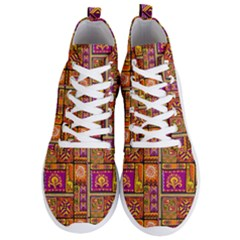 Traditional Africa Border Wallpaper Pattern Colored 3 Men s Lightweight High Top Sneakers