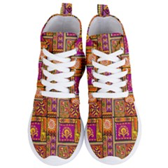 Traditional Africa Border Wallpaper Pattern Colored 3 Women s Lightweight High Top Sneakers