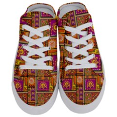 Traditional Africa Border Wallpaper Pattern Colored 3 Half Slippers