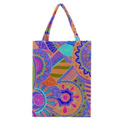 Pop Art Paisley Flowers Ornaments Multicolored 3 Classic Tote Bag