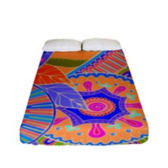 Pop Art Paisley Flowers Ornaments Multicolored 3 Fitted Sheet (full/ Double Size)