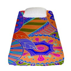 Pop Art Paisley Flowers Ornaments Multicolored 3 Fitted Sheet (single Size)
