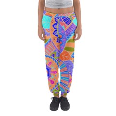Pop Art Paisley Flowers Ornaments Multicolored 3 Women s Jogger Sweatpants