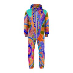 Pop Art Paisley Flowers Ornaments Multicolored 3 Hooded Jumpsuit (kids)