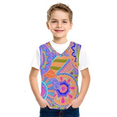 Pop Art Paisley Flowers Ornaments Multicolored 3 Kids  Sportswear