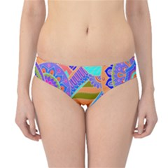 Pop Art Paisley Flowers Ornaments Multicolored 3 Hipster Bikini Bottoms