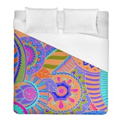 Pop Art Paisley Flowers Ornaments Multicolored 3 Duvet Cover (full/ Double Size)