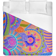 Pop Art Paisley Flowers Ornaments Multicolored 3 Duvet Cover (king Size)