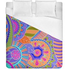 Pop Art Paisley Flowers Ornaments Multicolored 3 Duvet Cover (california King Size)