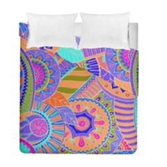 Pop Art Paisley Flowers Ornaments Multicolored 3 Duvet Cover Double Side (full/ Double Size)